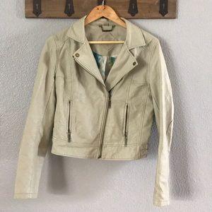 Vegan joujou Moto crop jacket
